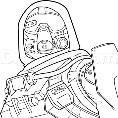 draw  hunter  destiny step  step drawing sheets
