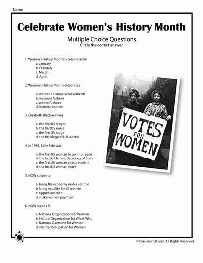 Month History Worksheets Quiz Womens Activities Jr