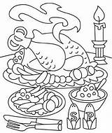 Coloring Thanksgiving Dinner Sheets Pages Printable Holiday Turkey Eating Related Posts Holidays Getcoloringpages Fun Info sketch template
