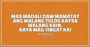 Tambalan: Matul... Walang Tulog Quotes