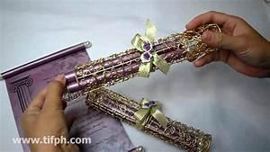 Example Of Birthday Invitation Metal Scroll Holder Invitation Mwh 044 For Wedding