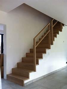 Marche D Escalier En Chene : escalier en ch ne sans nez de marche recouvrement d 39 un escalier en b ton escalier pinterest ~ Melissatoandfro.com Idées de Décoration