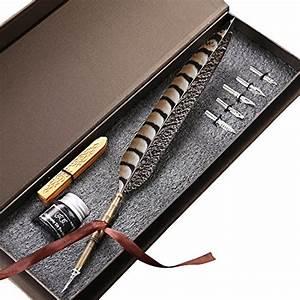 Antique Feather Copper Pen Stem Metal Nibbed Pen Writing ...
