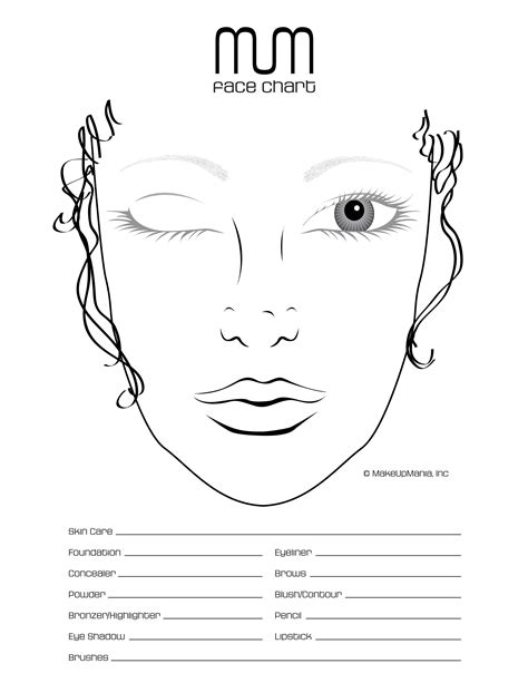 face chart  practice  repertoire   makeup