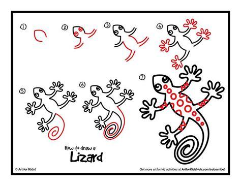draw  lizard art  kids hub drawing art
