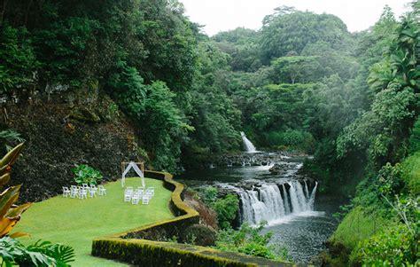 nadia joshua  falls  reeds island wedding hilo
