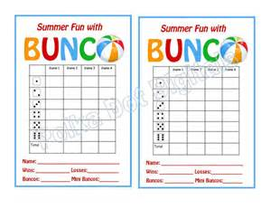 Bunco Score Sheets Free Printable Cards