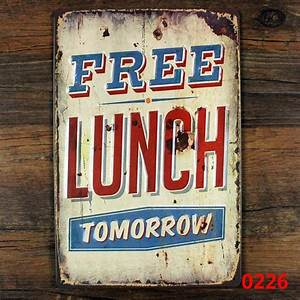 Funny metal tin sign for restaurant wall decor retro