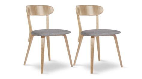 meuble cuisine bistrot lot de 2 chaises tiry bois vintage avec assise tissu