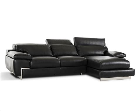 contemporary black leather sofa contemporary black full leather sectional sofa 44l5961