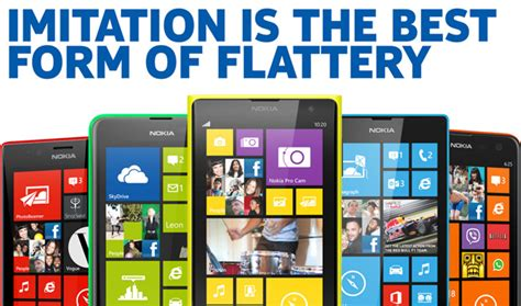 nokia on iphone 5c imitation is the best form of flattery
