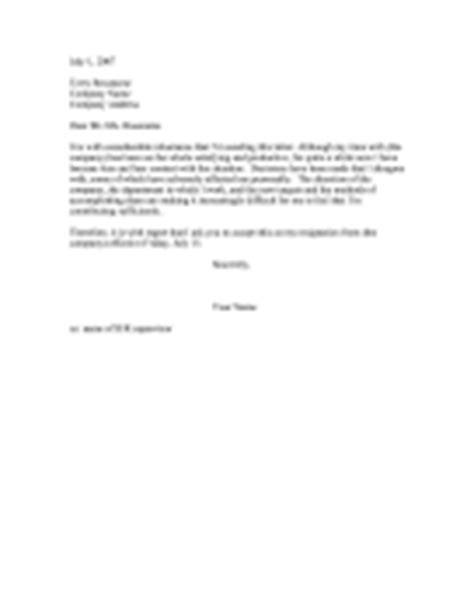 resignation letters letter  resignation templates