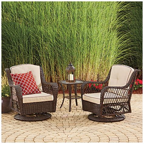 Wilson Fisher Patio Furniture Big Lots by Wilson Fisher 174 Barcelona 3 Resin Wicker Glider