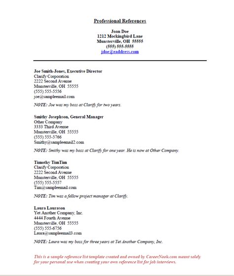 Resume Reference Template by References Sle How To Create A Reference List Sheet