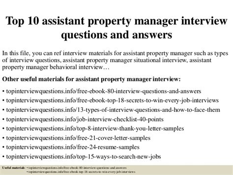 Questions For Production Manager And Answers by Top 10 Assistant Property Manager Questions And