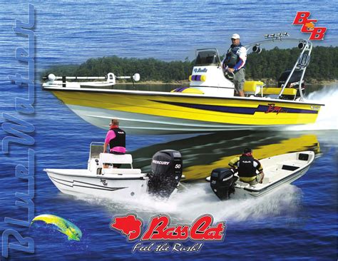Blue Bass Cat Boats by Issuu Bass Cat Boats Bluewater Catalog By Bob D