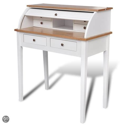 bureau secretaire vintage drop writing desk bol com vidaxl bureau secretaire