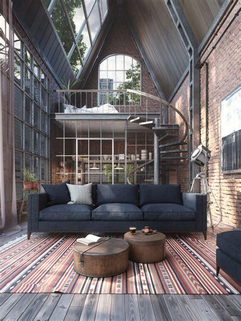 loft studio  spiral staircase idesignarch interior