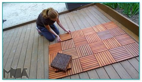 deck tiles  wood deck