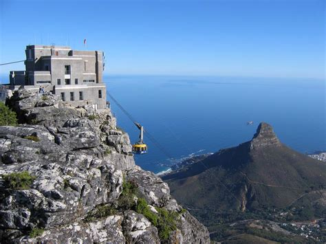 table mountain cape town south africa the cable way 39 s top station on table mountain above cape t