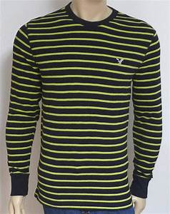 American Eagle Outfitters Mens Navy Lime Stripe Long ...