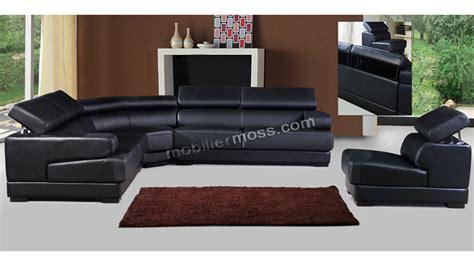 canapé d angle dossier haut canapés d angle cuir