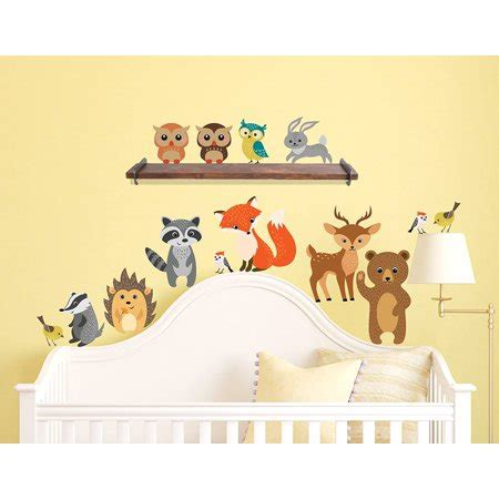 Innovative Stencils Forest Animals Wall Decals Peel and