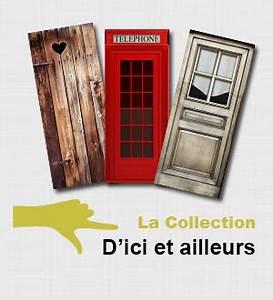 Fausse Porte De Placard : stickers adhesifs portes ~ Zukunftsfamilie.com Idées de Décoration