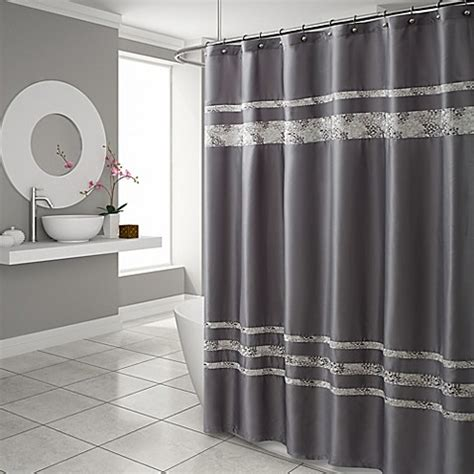 gray and brown shower curtain croscill 174 spa tile shower curtain in grey bed bath beyond