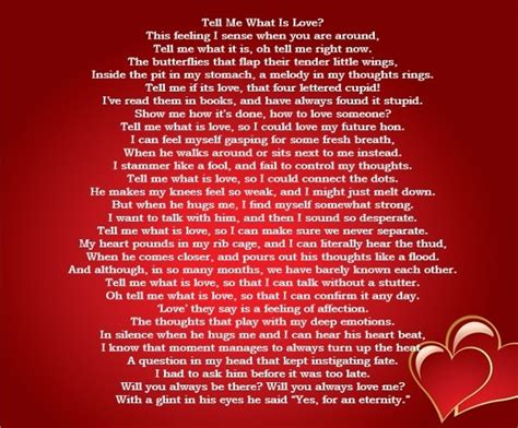 Romantic Valentine Poems Love