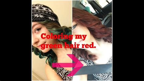 coloring  green hair red  bleaching youtube