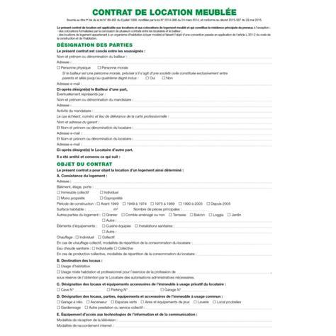contrat location chambre contrat de location locaux meublés exacompta 51e arc