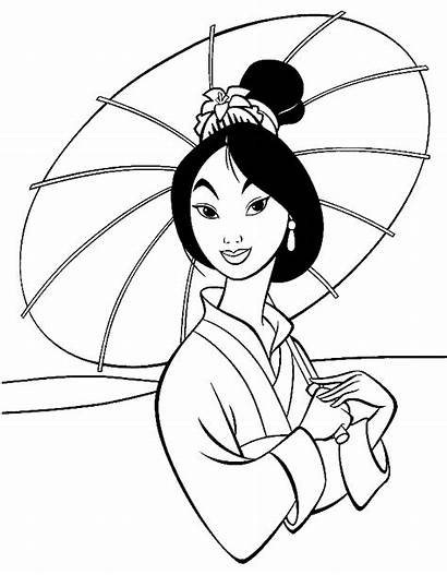 Disney Coloring Pages Walt Mulan Characters Sheets