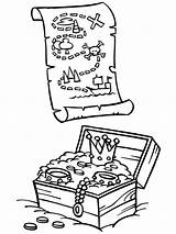 Treasure Chest Coloring Pirate Pages Map Drawing Box Maps Open Pirates Printable Colouring Piet Print Lesson Printables Getcolorings Getdrawings Theme sketch template