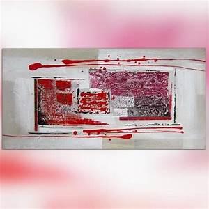 Tableau Peinture Pas Cher : tableau contemporain pas cher 60 x 120 cm ~ Teatrodelosmanantiales.com Idées de Décoration