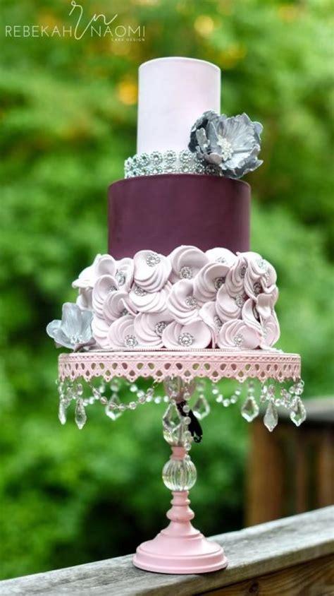 cake mauve wedding cake  weddbook