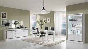Meuble Salle à Manger Blanc : miroir thema blanc salle manger ~ Teatrodelosmanantiales.com Idées de Décoration