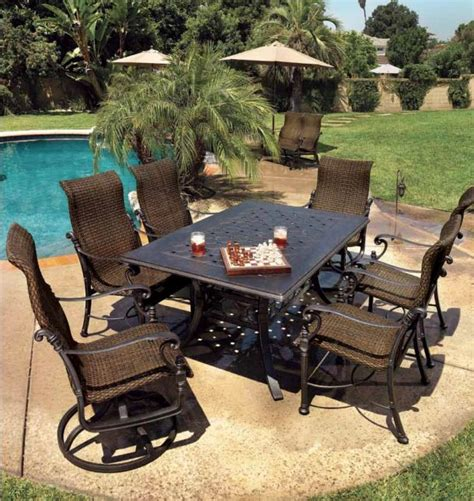 Gensun Patio Furniture Florence by Gensun Tuscany Dining Table With Florence Woven Dining
