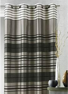 Kit Rayure Vitrage : rideau shantung rayure chenille taupe achat rideaux ~ Premium-room.com Idées de Décoration