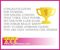 contoh kartu ucapan selamat menang lomba  bahasa inggris terbaik englishiana