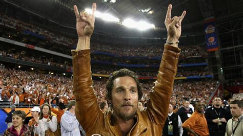 matthew mcconaughey gave  beloved texas longhorns  pep