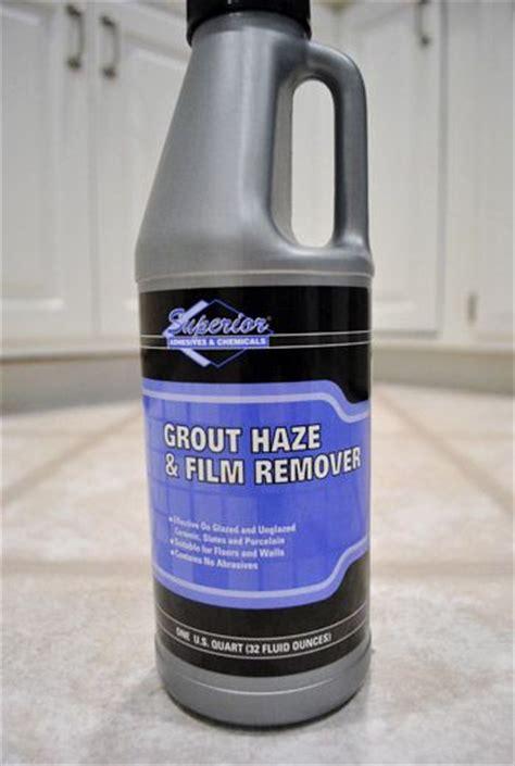 using a tile haze remover sealing grout caulking tile