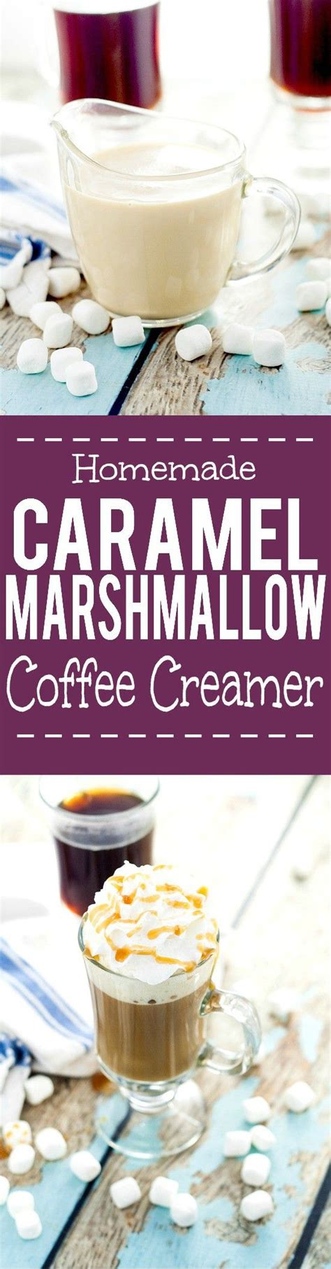 Flavored coffee creamers may be delicious, but they're usually full of added sugar and preservatives. Homemade Caramel Marshmallow Coffee Creamer recipe - Light ...