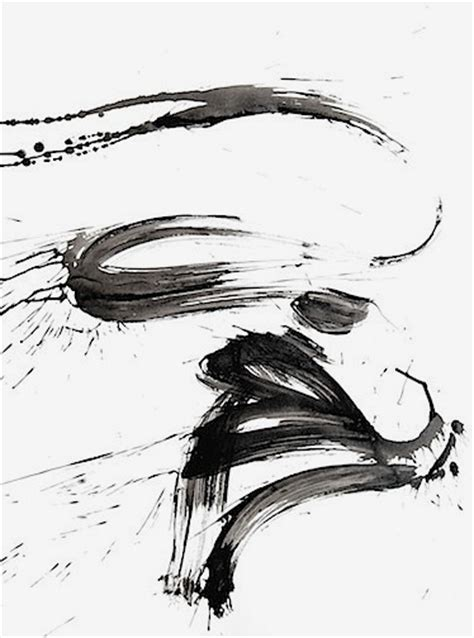 Abstract Black Ink by Black And White Abstract Ink Painting 55 2contemporary