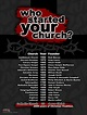 Who Started Your Church Poster | Church, Dr. who and Catholic