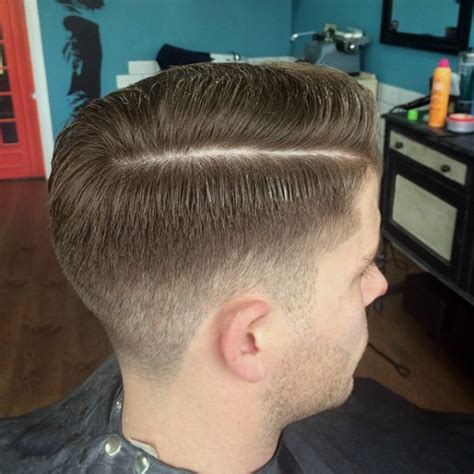 fade  side parting  haircut pinterest