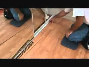 how to finish off a laminate planking floor edge next to