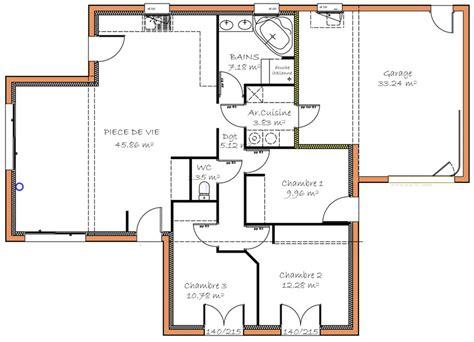 maison plain pied 3 chambres prévisions de maisons à contruire en loire atlantique 44