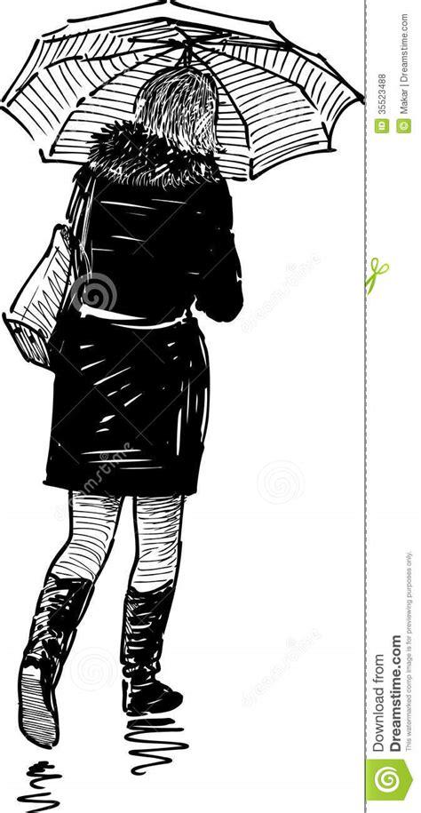 woman  umbrella stock vector image   girl