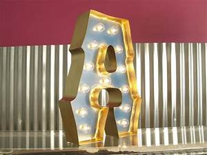 alphabet marquee letters with gold edging and lights With gold marquee letters